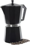 Andrew James 12 Cup Black Espresso Coffee Percolator - Includes Free Replacement Gasket