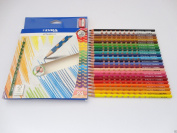 24 Lyra Groove Slim Coloured Pencils Inc Sharpener - Triangular - School Art