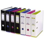 Elba MyColour Lever Arch File Polypropylene Capacity 80mm A4 White and Lime Ref E104890114