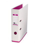 Elba MyColour A4 Lever Arch File - White and Pink