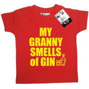 Dirty Fingers, My Granny smells of Gin, Baby T-shirt