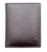 STARHIDE ULTRA SLIM LEATHER CREDIT CARD HOLDER MINI CARD CASE WALLET BLACK #105