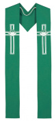 Loaves and Fishes - Green Clergy Stole