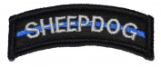 Sheepdog Thin Blue Line Tab Patch with Hook Fastener - Multiple Colours