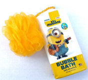 Minions Bubble Bath Banana Scented 470ml Bundle with Yellow Luffa