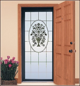 Naples Etched Glass Static Cling Window Film 80cm x 190cm