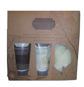 La Bella Provincia Honey Vanilla Gift Set - Body Wash, Lotion & Puff