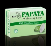 RDL Green Papaya Skin Whitening Bath Soap 135g with Vitamins A, C & E