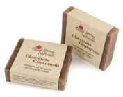 All Natural Organic Chocolate Cinnamon Handmade Bar Soap by Desert Spring Naturals Made With Olive Oil