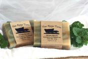 Free Reign Farm Goat Milk Soap Handmade Scented Bar Bath Moisturising - Eucalyptus & Peppermint 150ml Bar