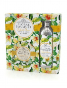 Floral Bouquet Daffodil Flower Talc & Soap Medley
