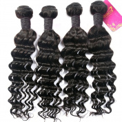 Shacos Grade 7a Mixed Length Deep Wave Brazilian Virgin Human Hair Bundles Natural Colour Hair Extensions