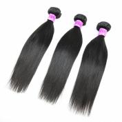 Formal Hair® Brazilian Virgin Straight Human Hair 3 Bundles Hair Extensions 6a Grade Quality Natural Colour Mixed Length 8nch 25cm 30cm
