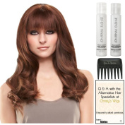 easiFringe Exclusive Remy Human Hair, Christy's Wigs Q & A Booklet, Argan Luxury Shampoo & Conditioner & Wide Tooth Comb Colour Shown