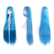 "Ecloud ShopUS® 40"" 100cm Anime Cosplay Long Straight Wig Halloween costume ball toupee"