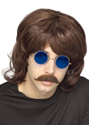 Mens The Beegees Style Brown 70s Shag Wig