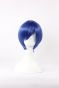 Coolsky Wigs Dark Blue Vocaloid Series Cosplay