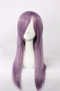 Coolsky Wigs CLANNAD Mix Pink And Purple Long Straight Hair Thickening Cosplay Costume