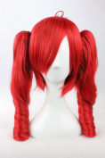 Coolsky Costume Wigs Vocaloid Series April 1 Supernatural Book Mix Red Long Wave Cosplay Wig