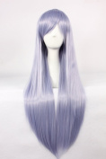 Coolsky Wigs Neon Genesis Evangelion Long Straight Mix Purple COS wig Costume