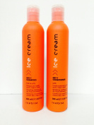 Inebrya Ice Cream Dry-t Shampoo Fior Di Late 350ml and Dry-t Conditioner Latte 350ml