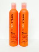 Inebrya Ice Cream Dry-t Shampoo Fior Di Late 350ml and Dry-t Conditioner Latte 350ml