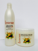Linange Restructing Shampoo Pus 350ml and Restructuring Mask Plus 500ml