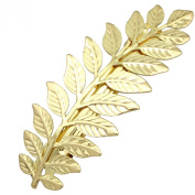 Q & Q Fashion® Festival Bridal Gold Leaf Branch French Updo Hair Pin Clip Dress Snap Barrette
