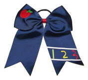 NEW APPLE & 310cm Cheer Bow Pony Tail 7.6cm Ribbon Girls Cheerleading Dance Practise Football Games Uniform Back to School