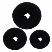C.X.Z® New Fashion Hair Chignon Donut Bun Maker Former Doughnut Shaper Ring Updo Styler Hairdressing Twist S M L (Black