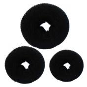 C.X.Z® New Fashion Hair Chignon Donut Bun Maker Former Doughnut Shaper Ring Updo Styler Hairdressing Twist S M L (Black