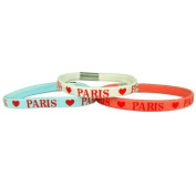 Souvenirs of France - 3 x Paris Heart Scrunchies