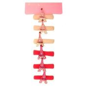 Souvenirs of France - 6 x Paris Eiffel Tower Scrunchies - Colour : Pink
