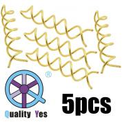 QY 5PCS Gold Colour Spin Pin Sleek Bun Messy Bun Maker Simple Style Mini Pin Hair Updo Accessory