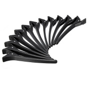 DCDEAL 12PCS Black Plastic Salon Hair Clip Clamp Hair Styling Section Clips Hairdressing Cutting Hair Grip Clips Tools