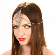 Crystal Rhinestone Grecian Chain Headpiece