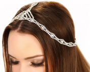 1920's Great Gatsby Inspired Art Deco Crystal Grecian Chain Headpiece
