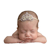 Baby Crown,SBParts® Large Crystal Crown Tiara Slider Baby Headband