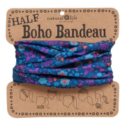 Natural Life Half Boho Bandeau Navy Purple Orange Floral