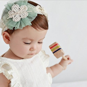 New Fashion Korea Style Baby Cute Chiffon Flower Lace Headband Infant Girl Hoop Hair Weave Band Hair Accessories