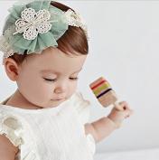 New Fashion Korea Style Baby Cute Chiffon Flower Lace Headband Infant Girl Hoop Hair Weave Band Hair Accessories