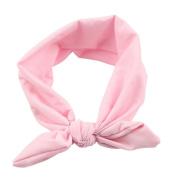 Solid Colour Elastic Hair Hoops Headbands 38cm for Baby Girl