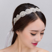 Rhinestone Bride Bridal Wedding Accessory Hair Head Band Wear Jewellery Headdress Headbands Tiara Ribbon Headpieces/waist Chain Belt
