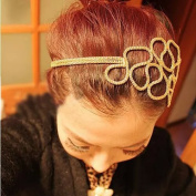 Popfeel Lovely Metalic Elastic Headband Hair Hoope Decoration for Wedding Party