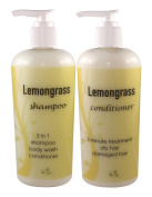 Lemongrass Natural Shampoo Conditioner 240ml Combo No Synthetic Fragrance