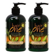 "Hair One Hair Cleanser and Conditioner for Colour Treated Hair with Jojoba 355ml / 12oz ""Pack of 5.1cm"