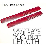 Set of YS Park 335 & 339 Fine Cutting Combs in RUBY RED