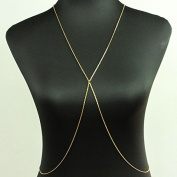 Seasofbeauty 18K Gold Fashion Women Sexy Body Chain