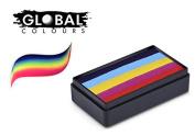 Global Body Art Face Paint - FunStroke Leeanne's Rainbow 30gr
