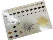 Metallic Gold Silver Black Jewellery Temporary Fashion Tattoo